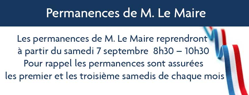 Permanences de M. Le Maire