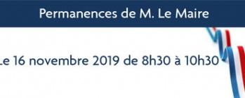 Permanences de M. Le Maire