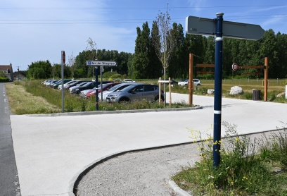 Travaux d'extension du parking du Lac